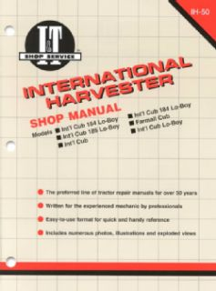 International Harvester Shop Manual Models Intl Cub 154 Lo Boy, Intl