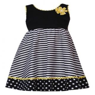 Rare Editions Baby/Infant Girls 12M 24M BLACK WHITE YELLOW