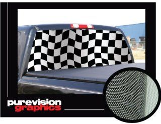 CHECKERED FLAG 16 x 54 Rear Window Graphic checker truck decal