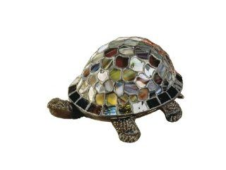 Dale Tiffany 7908/816A Blue Turtle Accent Lamp, Antique Bronze and Art