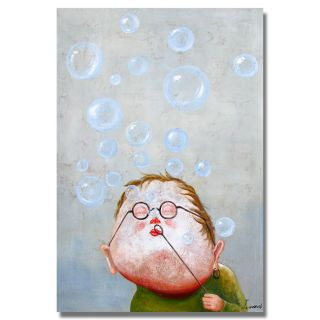 Blowing Bubbles Hand painted Canvas Art
