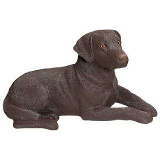 Sandicast Labrador Retriever Dog Figurine   Chocolate