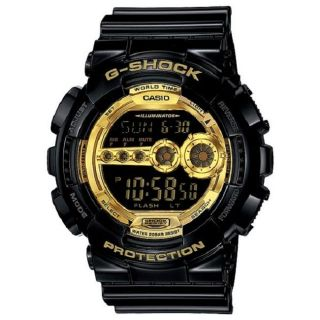 Casio Mens G Shock Black/Gold Stainless Steel Watch