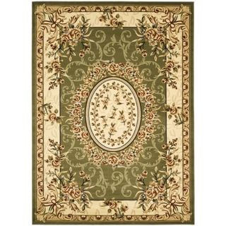 Safavieh Lyndhurst Collection Aubussons Sage/ Ivory Rug (9 x 12