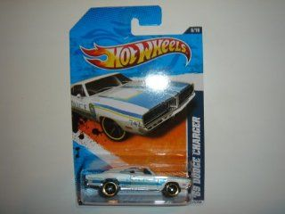 2011 Hot Wheels 69 Dodge Charger White #166/244 Toys & Games