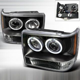 1993 1998 Jeep Grand Cherokee Halo Led Projector Headlights Black