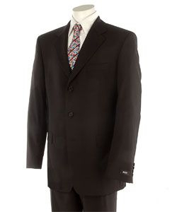 Hugo Boss Mens Three button Black Suit
