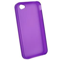 AccStation Clear Purple TPU Rubber Skin Case for Apple iPhone 4