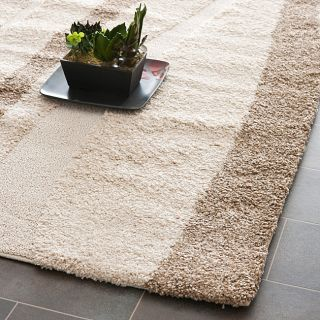 Hand woven Ultimate Cream/ Dark Brown Shag Rug (4 x 6) Compare $82