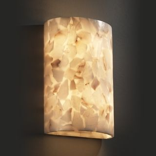 light Cylinder Natural Alabaster Rocks Wall Sconce