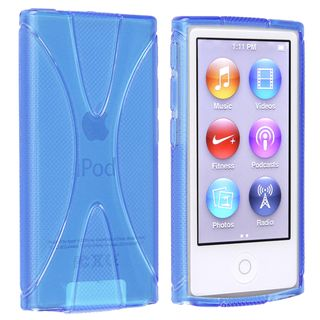 BasAcc Blue TPU Rubber Skin Case for Apple® iPod nano 7th Generation