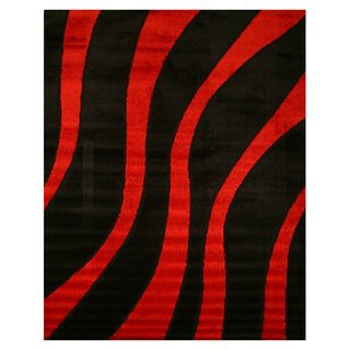 Paris Shaggy Black Area Rug